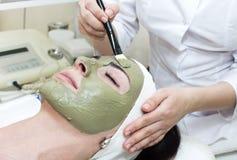 Process of massage and facials Royalty Free Stock Photo