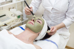 Process of massage and facials. In beauty salon Stock Photo
