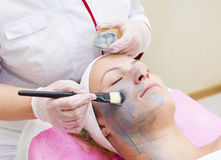 Process of massage and facials Stock Images