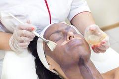 Process of massage and facials Stock Photos