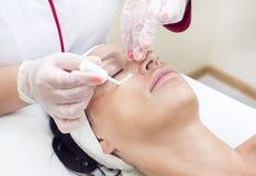 Process of massage and facials Royalty Free Stock Photos