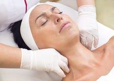 Process of massage and facials Royalty Free Stock Image