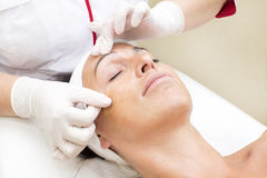 Process of massage and facials Royalty Free Stock Photo