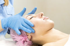 Process of massage and facials Royalty Free Stock Image