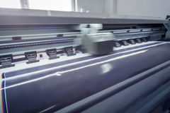 Process in a modern printing house. Motion Stock Photography