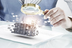 Process of new technologies integration . Mixed media Royalty Free Stock Photography