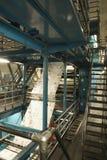 Process Of Newspaper Production. Closeup of newspaper production and printing process Royalty Free Stock Photos