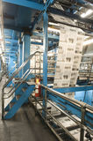 Process Of Newspaper Production. View of newspaper production and printing process Royalty Free Stock Images
