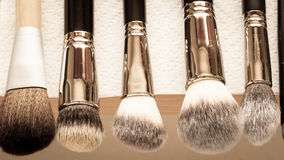 Process Of Cleaning Drying Makeup Brushes Royalty Free Stock Photo