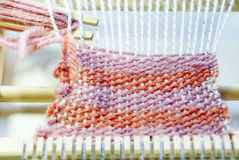 Process Of Weaving Royalty Free Stock Image