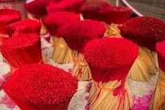 Process of painting incense sticks Stock Photos