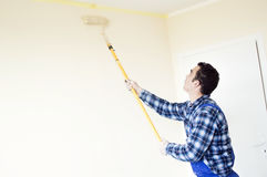 The process of painting the walls in the room Stock Photography