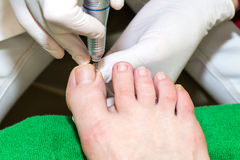 Process of pedicure Royalty Free Stock Photo