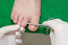 Process of pedicure Royalty Free Stock Photos