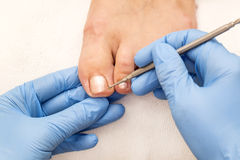 Process of pedicure Royalty Free Stock Images