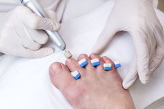 Process of pedicure Stock Image