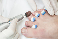 Process of pedicure Stock Photography