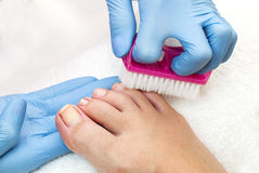 Process of pedicure Royalty Free Stock Photography