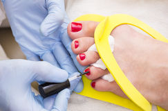Process of pedicure Royalty Free Stock Image