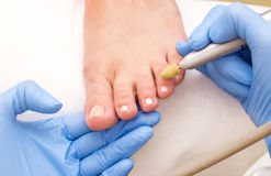 Process of pedicure Stock Images