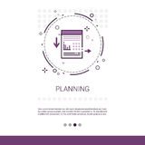 Process Planning Business Strategy Marketing Web Banner With Copy Space. Vector Illustration royalty free illustration
