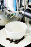 Process of preparation of coffee.  Royalty Free Stock Photography