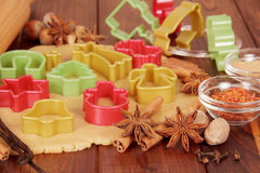The process of preparing Christmas cookies Stock Photography