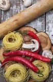 Process of preparing pasta Royalty Free Stock Image
