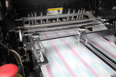 Process printing in the printing house Stock Photography