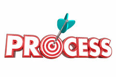 Process Procedure System Target Arrow. 3d Illustration Stock Photography