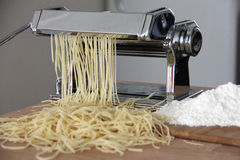 Process of production of noodles Stock Images