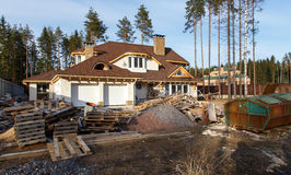 Process of reconstruction of a country house Royalty Free Stock Images