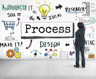 Process Research Sketch Planning Design Graphic Concept Stock Image