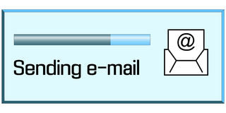Process of sending emails Stock Photos