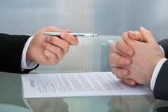 The process of signing new business contract Stock Photography