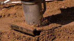 Process of Soil Compaction stock video footage