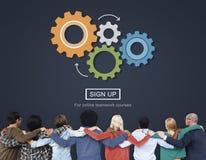 Process Think Collaboration Cog Mechanism Concept Stock Images