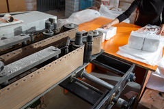 Process of various paper products manufacturing Stock Image