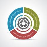 Process vector diagram. Process diagram, vector clip art Royalty Free Stock Image