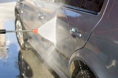 The process of washing the car Royalty Free Stock Image