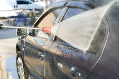 The process of washing the car Stock Image