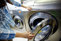 Process of washing clothes Stock Photos