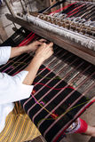 Process of weaving, dyeing, Thaisilk Royalty Free Stock Images