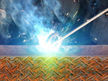 Process welding metal royalty free stock image