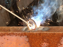 Process  welding  metal Royalty Free Stock Photo