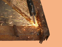 Process of welding of metal by an electric current Stock Image