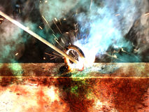 Process  welding  metal old Royalty Free Stock Images