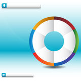 Process Wheel Wave Chart Royalty Free Stock Photography