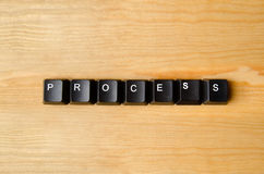 Process word. With keyboard buttons Stock Photo