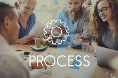 Process Word Settings Icon Simple Concept Stock Photo